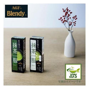 (AGF) Blendy Matcha Tea Without Milk 4 Sticks (30 grams) Matcha with Ikebana