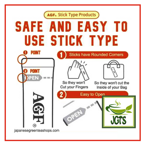 (AGF) Blendy Stick Cafe Au Lait (Original) Instant Coffee 2 sticks (21 grams) Easy to use safe design sticks