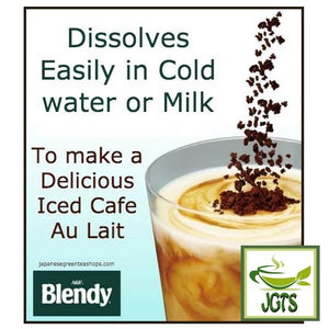 (AGF) Blendy Stick Cafe Au Lait (Original) Instant Coffee 8 Sticks (84 grams) Easily Dissolves in milk or water