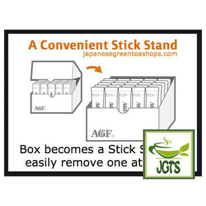 (AGF) Blendy Stick Cafe Au Lait (Otonna) Instant Coffee 30 Sticks (270 grams) Easy take out Stand Box