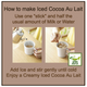(AGF) Blendy Stick Cocoa Au Lait Instant Cocoa 2 Sticks (22 grams) Sticks How to make Iced Cocoa Au Lait