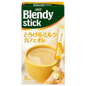 (AGF) Blendy Stick Melted Milk Cafe Au Lait Instant Coffee 8 Sticks (80 grams)