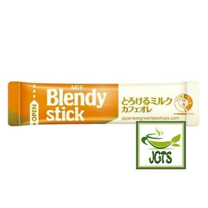 (AGF) Blendy Stick Melted Milk Cafe Au Lait Instant Coffee 8 Sticks (80 grams) One individually wrapped stick