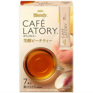 (AGF) Blendy Cafe Latory Peach Tea 7 Sticks (45.5 grams)