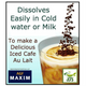(AGF) Maxim Luxurious Coffee Shop Modern Blend Instant Coffee (80 grams, Jar) Easily Dissolves in milk or water