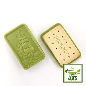 Bourbon Alfort Matcha Green Tea Biscuits (157 grams) Cookie Front and Back view
