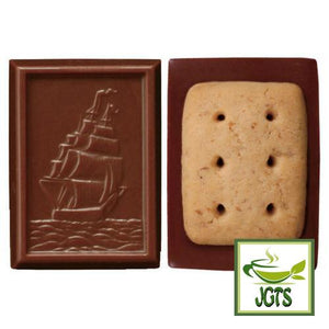 Bourbon Alfort Mini Chocolate Biscuits (59 grams) Cookie Front and Back View