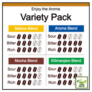 Doutor Enjoy Aroma Variety Drip Pack Ground Coffee 8 Packs (56 grams) Doutor Flavor Chart English