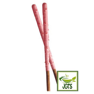 Glico Pocky Strawberry (28 grams) 2 Sticks Close Up View