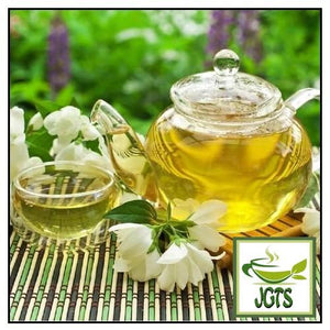 ITO EN One Pot Relax Jasmine Tea Bags 50 Pack (150 grams) Jasmine Brewed in pot with cup