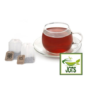 JAFTEA Black Tea Fruit Melody (75 grams) Brewed in glass with tea bags