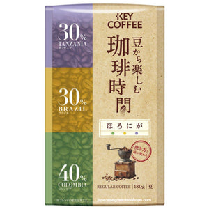 KEY Coffee Time Enjoyed from Key Coffee Beans Mellow Horoniga Coffee Beans (180g)