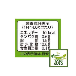 Kataoka Tsujiri Kita Kyo Latte (Matcha & Milk) 5 Pieces (70 grams) Calories per serving Nutrition