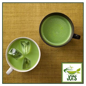 Kataoka Tsujiri Matcha Milk Koicha (160 grams) Hot and cold matcha milk in cup