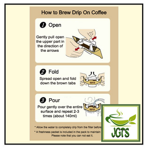 Key Coffee Drip On Variety Pack Ground Coffee 12 Pack (96 grams) How to brew Drip On English