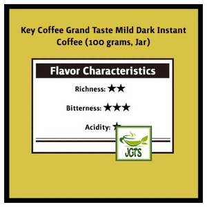 Key Coffee Grand Taste Mild Dark Instant Coffee (100 grams, Jar) Flavor Chart
