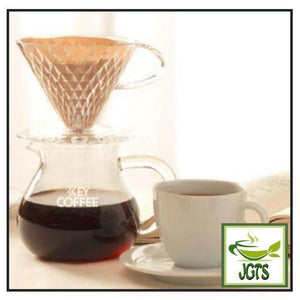 Key Coffee Premium Stage Kilimanjaro Blend Coffee Beans (200 grams) Hand Drip Coffee Brewed Next to Cup