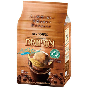 Key Coffee Drip On Mellow Blend Ground Coffee 10 Pack (80 grams)