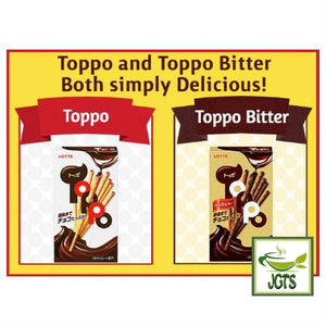 Lotte Toppo Chocolate (36 grams) Two Flavors of Toppo