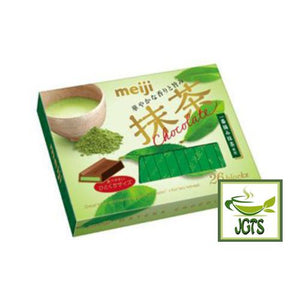 Meiji Matcha Chocolate 26 Pieces Front Side View
