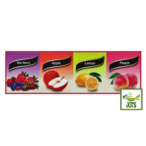 Meito Sangyo Stick Mate Fruit Tea Assortment 24 Sticks (144 grams) Mixed Berry Apple Lemon Peach Flavors