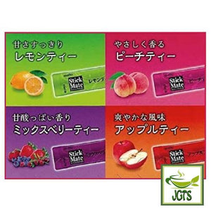 Meito Sangyo Stick Mate Fruit Tea Assortment 24 Sticks (144 grams) Mixed Berry Apple Lemon Peach
