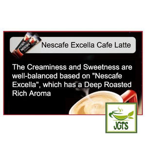 Nescafe Excella Cafe Latte Instant Coffee 30 Sticks (198 grams) Well Balanced Sugar and Milk flavor