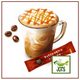 Nescafe Gold Blend Adult Reward Caramel Macchiato 7 Sticks (95.9 grams) One stick fresh brewed in a glass
