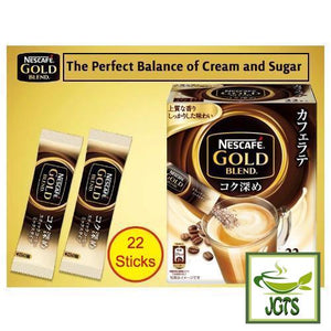 "Nescafé Gold Blend Cafe Latte ""Rich Deep"" Instant Coffee 22 Sticks (173.8 grams) Large Box of 22 Balance of Cream and Sugar"