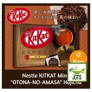 "Nestle KITKAT Mini ""OTONA-NO-AMASA"" Hojicha 12 pack (135.6 grams) Hojicha Package has 12 Bars"