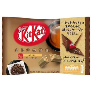 "Nestle KITKAT Mini ""OTONA-NO-AMASA"" Hojicha 12 pack (135.6 grams)"
