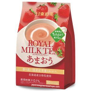 Nitto Black Tea Royal Milk Tea Amaou 10 Sticks (140 grams)