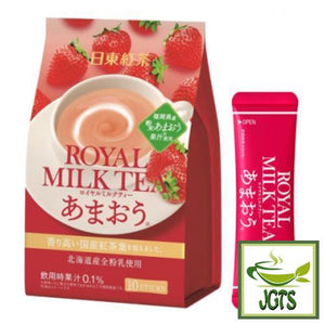 Nitto Black Tea Royal Milk Tea Amaou 10 Sticks (140 grams) Fukuoka strawberry and Hokkaido cream