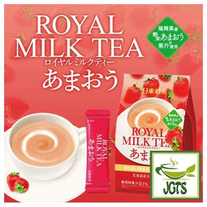 Nitto Black Tea Royal Milk Tea Amaou 10 Sticks (140 grams) strawberry juice from Fukuoka prefecture