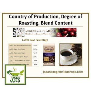Ogawa Coffee Shop Blue Mountain Blend Ground Coffee (180 grams) Country of Bean Roasting Degree Blend Content