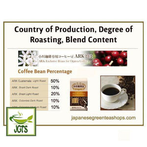 Ogawa Coffee Shop Brewers Blend Ground Coffee (180 grams) Country of Bean Roasting Degree Blend Content