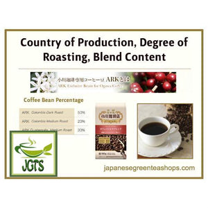 Ogawa Coffee Shop Decaf Blend Ground Coffee (180 grams) Country of Bean Roasting Degree Blend Content