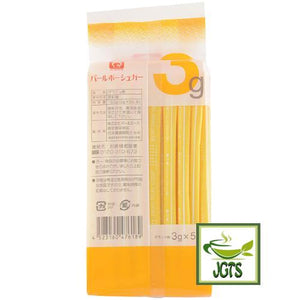 Pearl Ace Pearl Bow Sugar (150 grams) Package contains 50 Sticks back view