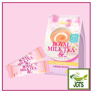 Royal Milk Tea Sakura Flavor 10 sticks (140 grams) 10 Sticks per package