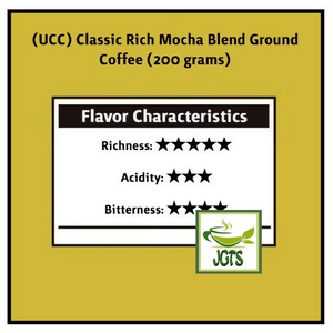 (UCC) Classic Rich Mocha Blend Ground Coffee (200 grams) Flavor Chart