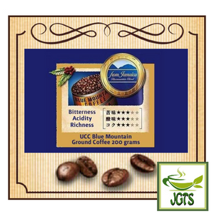 (UCC) Coffee Exploration Blue Mountain Blend Ground Coffee (200 grams) Flavor chart English