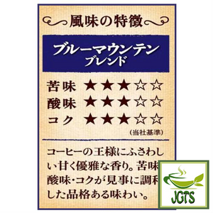 (UCC) Coffee Exploration Blue Mountain Blend Ground Coffee (200 grams) Flavor chart Japanese