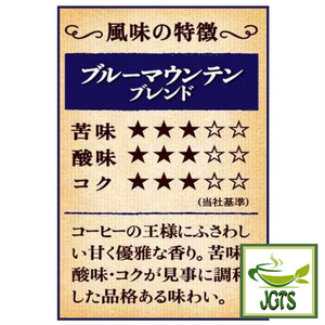 (UCC) Coffee Exploration Blue Mountain Blend Instant Coffee (45 grams) Flavor chart Japanese