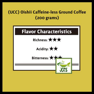 (UCC) Oishii Caffeine-less Ground Coffee (200 grams) Flavor Chart