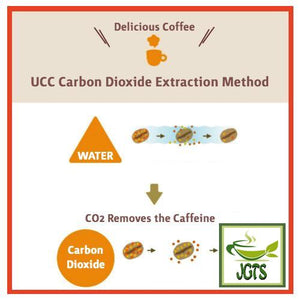(UCC) Oishii Caffeine-less Instant Coffee Sticks 7 Sticks (14 grams) UCC Carbon Dioxide Extraction Method