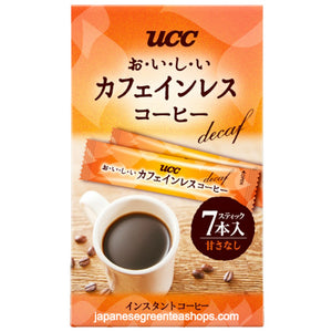 (UCC) Oishii Caffeine-less Instant Coffee Sticks 7 Sticks (14 grams)
