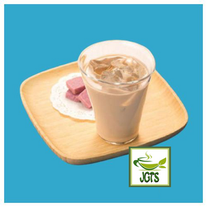 (Wakodo) Milk Shop's Instant Caffeine-less Milk Tea (320 grams) Brewed cold over ice in glass