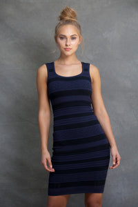 Tanya Tank Dress Striped - VIAVAI FASHION