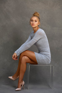 Chloe Long Sleeve Mini Dress - VIAVAI FASHION