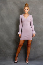 Natasha V Neck Bell sleeve dress